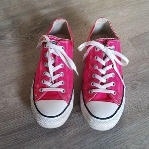 Pink Converse All Stars sneaker shoes women sz 10